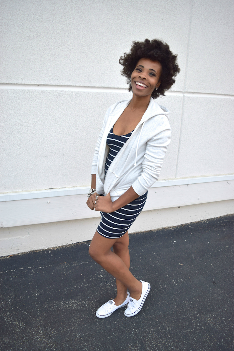 white-navy-striped-jersey-dress-zip-hoody